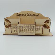 """Настольный органайзер и вечный календарь именной """"Цветы"""""""