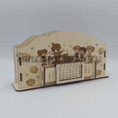 """Настольный органайзер и вечный календарь именной """"С днём рождения"""""""