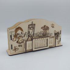 """Настольный органайзер и вечный календарь именной """"Учителю изобразительного искусства"""""""
