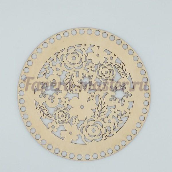 Донышко круг (узор)  10 см