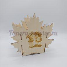 """Подарочная коробочка """"Кленовый лист"""""""