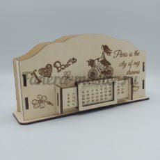 """Настольный органайзер и вечный календарь именной """"Учителю французского языка"""""""