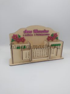 Настольный органайзер и вечный календарь СО СБОРКОЙ