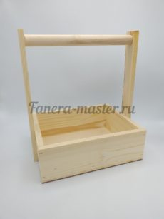 Ящик стандартный с деревянной ручкой - размер 2