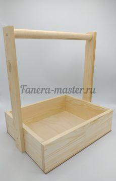 Ящик стандартный с деревянной ручкой - размер 3